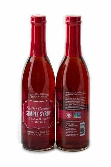 Strawberry + Basil Simple Syrup 12.7oz