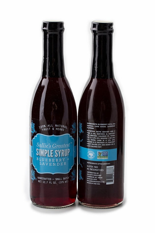 Blueberry + Lavender Simple Syrup 12.7oz