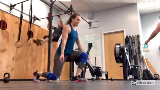 Jumping Lunges and Pull-Ups