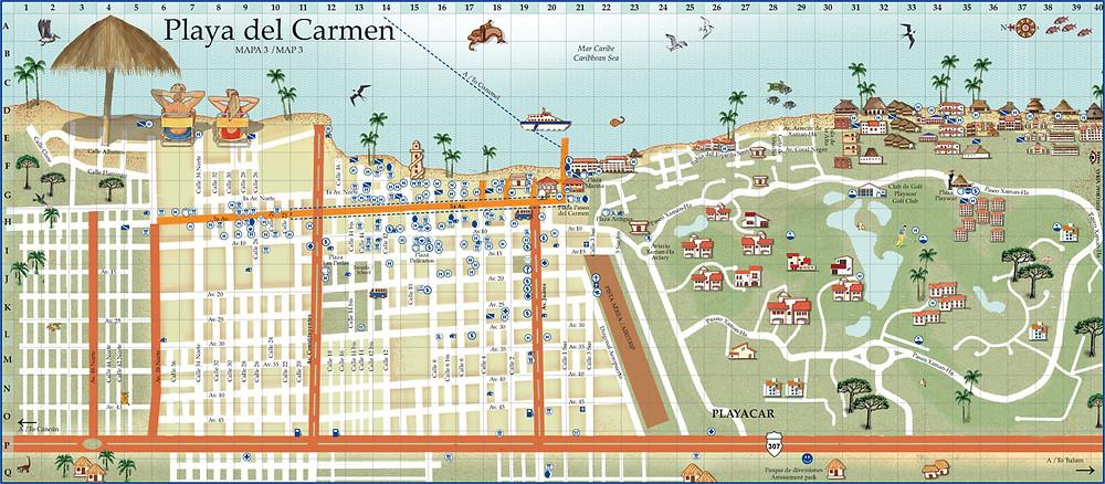 Mapa Playa del Carmen