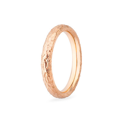 18k rose gold band ring