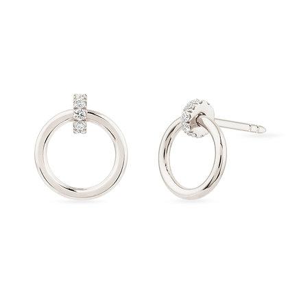 18k whitegold and diamonds earrings