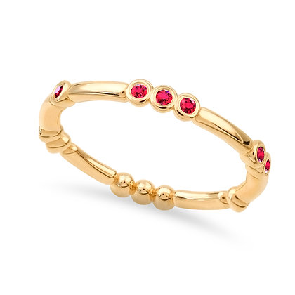 18k yellow gold and rubies ring