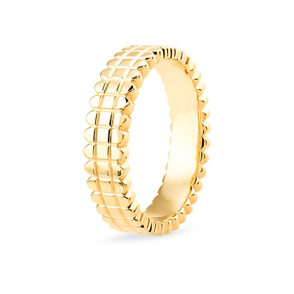 18k yellow gold band ring