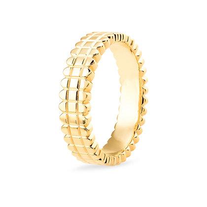 18k yellowgold band ring