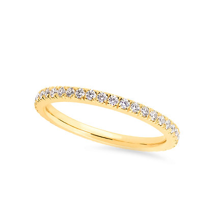 18k yellow gold and diamonds band ring
