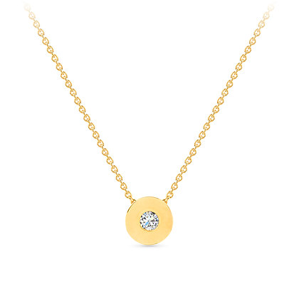 18k yellow gold and diamond pendant