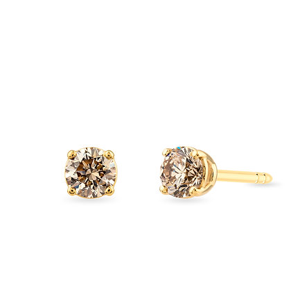 18k yellow gold and diamonds earrings