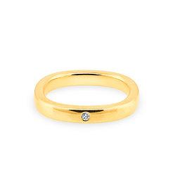 18k yellowgold and diamond band ring