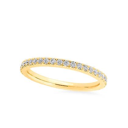 18k yellowgold and diamonds ring