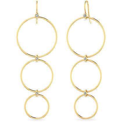 18k yellow goldanddiamonds earrings