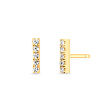 18k yellow gold anddiamonds earrings