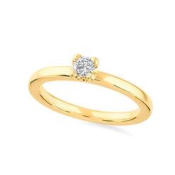 18k yellow gold anddiamond engagement ring