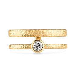 18k yellow gold anddiamond ring