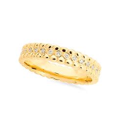 18k yellow gold and diamonds band ring