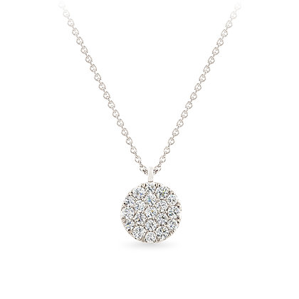 18k white gold anddiamonds pendant
