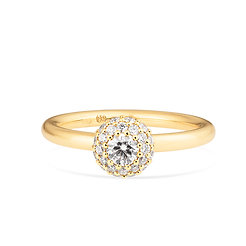 18k yellow gold and diamonds ring.