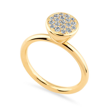 18k yellow gold anddiamonds ring