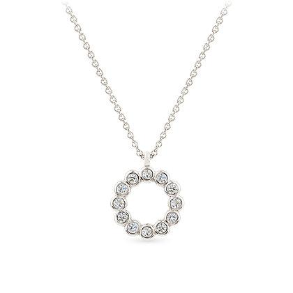 18k white gold diamonds pendant