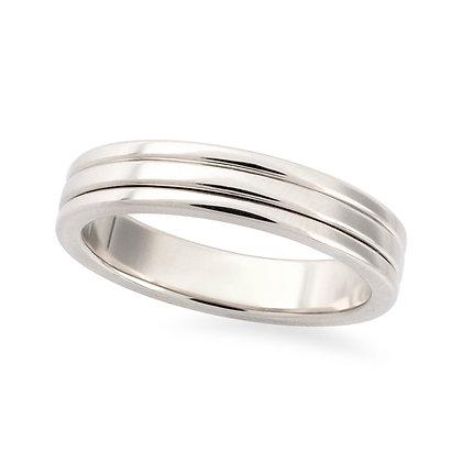 18k white gold band ring