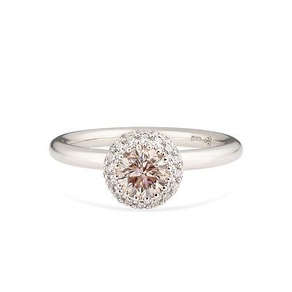 18k white gold and diamondsring
