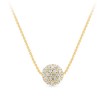18k yellow gold anddiamonds pendant