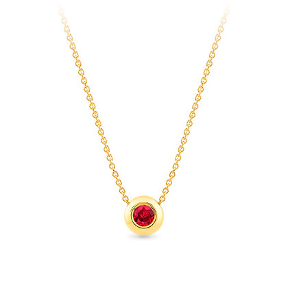 18k yellow gold andruby pendant