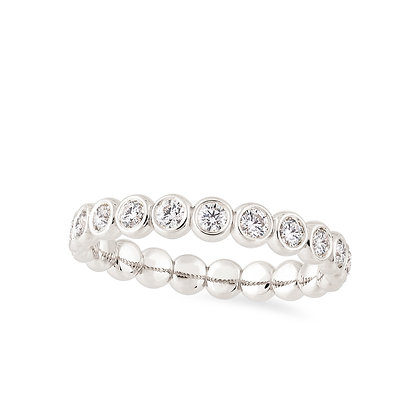 18k white gold and diamonds ring