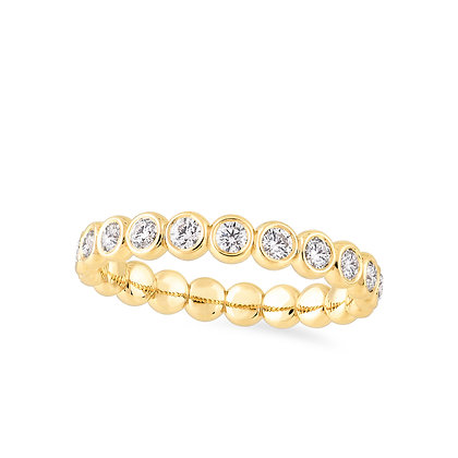 18k yellow gold and diamonds rings
