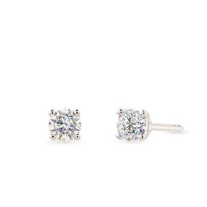 18k white gold and diamonds earrings