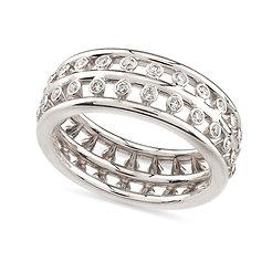 18k whitegold and diamonds ring