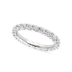 Platinum and diamonds band ring