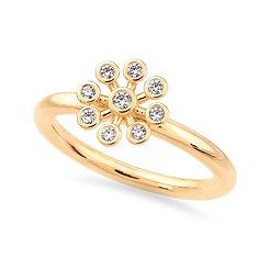 18k yellow gold and diamonds ring