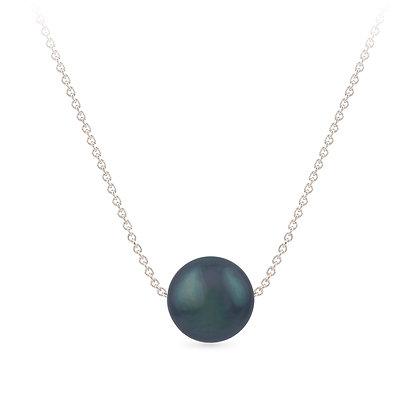 18k white gold and tahiti pearl pendant