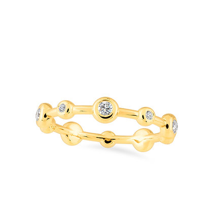 18k yellow gold and diamonds ring