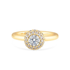 18k yellow gold and diamonds engagement ring