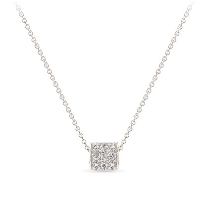 18k white gold and diamonds pendant