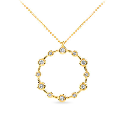 18k yellow gold and diamonds pendant