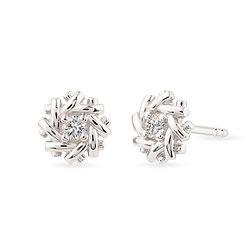 18k white gold and diamonds earrings