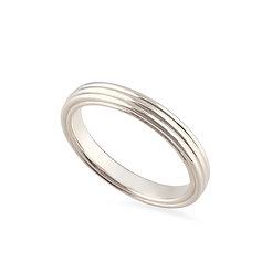 18k whitegold band ring