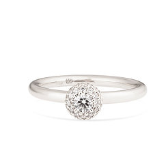 18k white gold and diamonds engagement ring