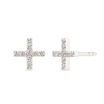 18k white gold anddiamonds earrings