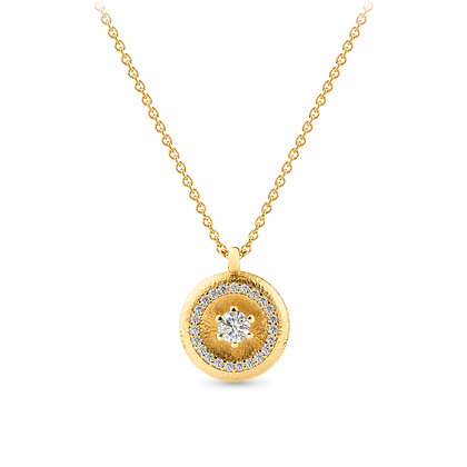 18k yellow gold diamonds pendant