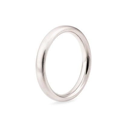 14k whitegold band ring