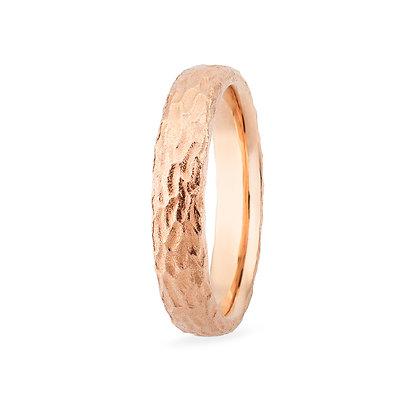 18k rose gold band ring