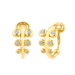 18k yellow gold and diamonds earrings