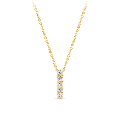 18k yellow gold and diamonds pendant