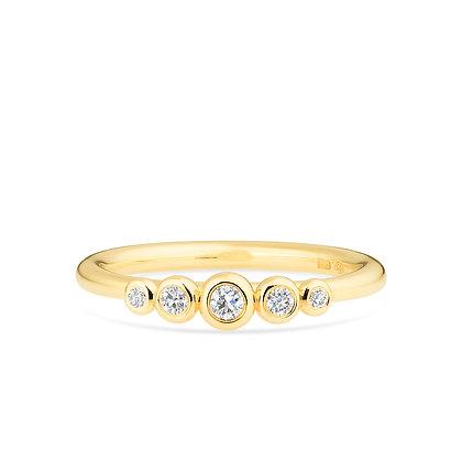 18k yellowgold and diamonds engagement ring