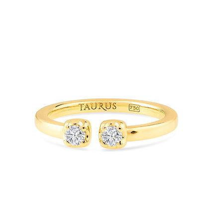 18k yellow gold anddiamonds engagement ring