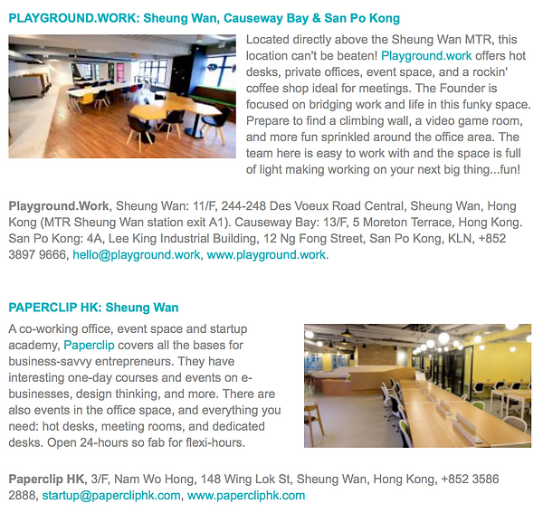 Top 10 Co-Working Spaces in Hong Kong- andotherspace